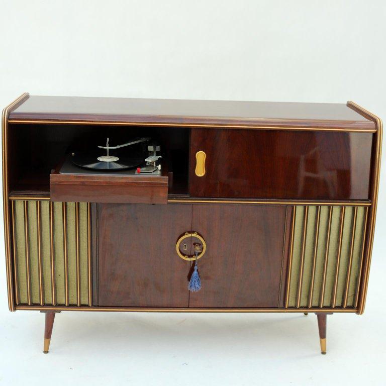 Mid Century Modern Phonograph Stereo