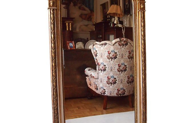 ANTIQUE EMPIRE MIRROR