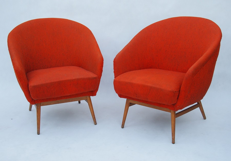 red retro armchairs 20th gallery